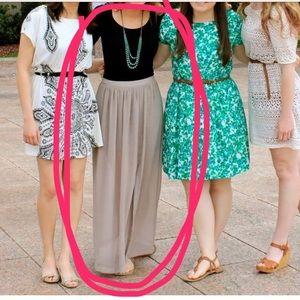 Half Sheer Maxi Skirt